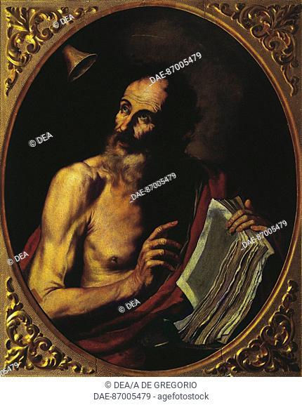 Jusepe de Ribera (Lo Spagnoletto, 1591-1652), Saint Jerome.  Coldirodi, Pinacoteca Rambaldi (Art Gallery)