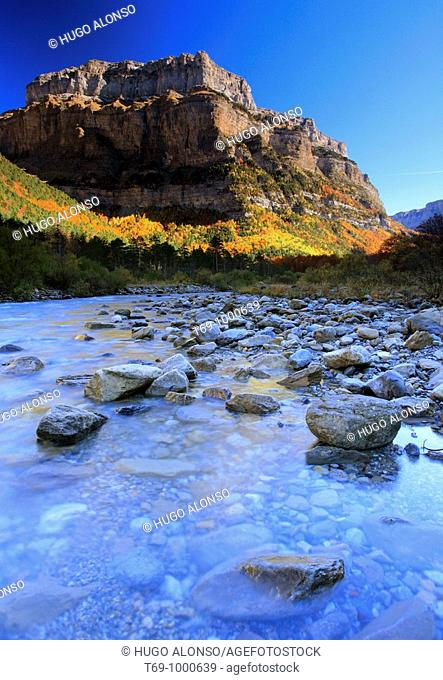 Arazas river in Ordesa and Monte Perdido National Park