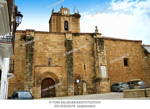 Santa Marina church in Canaveral of Caceres Spain by the Via de la Plata way