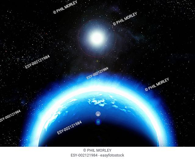 earth planet in space
