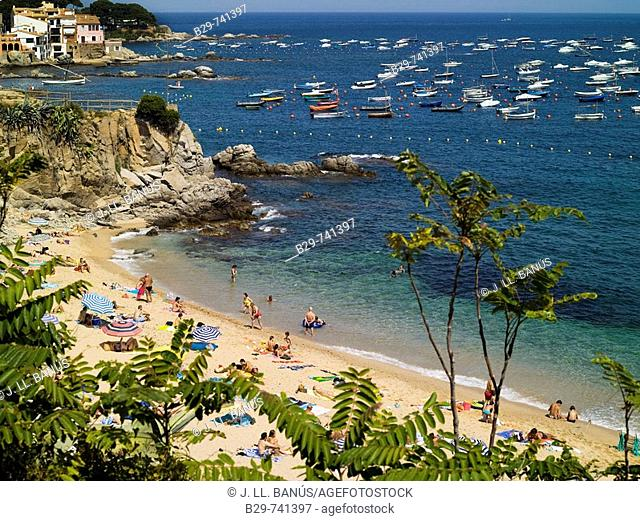 Beach, Calella de Palafrugell, Costa Brava. Girona province, Catalonia, Spain