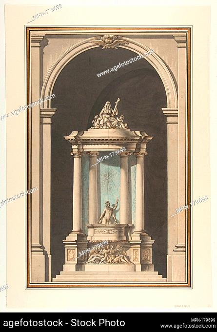 Design for a Pulpit. Artist: Louis Gustave Taraval (French, Stockholm 1738-1794 Paris); Date: 18th century; Medium: Pen and black ink, brush and brown, gray