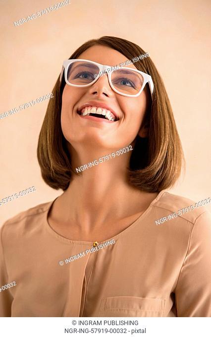 Elegant woman with glasses