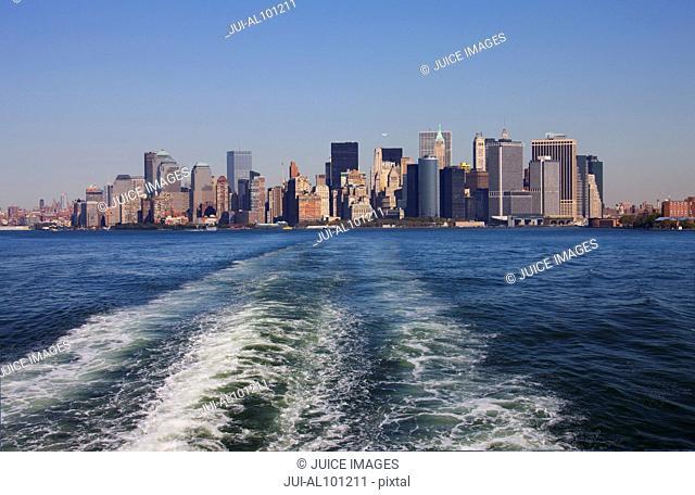 Southern tip of Manhattan, skyline of Manhattan, New York City, New York, United States