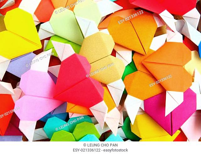 Origami colorful heart