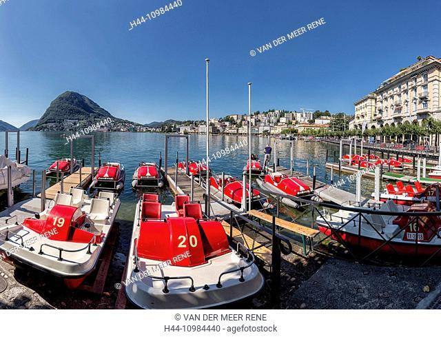 Lugano and lake Lugano in the Ticino
