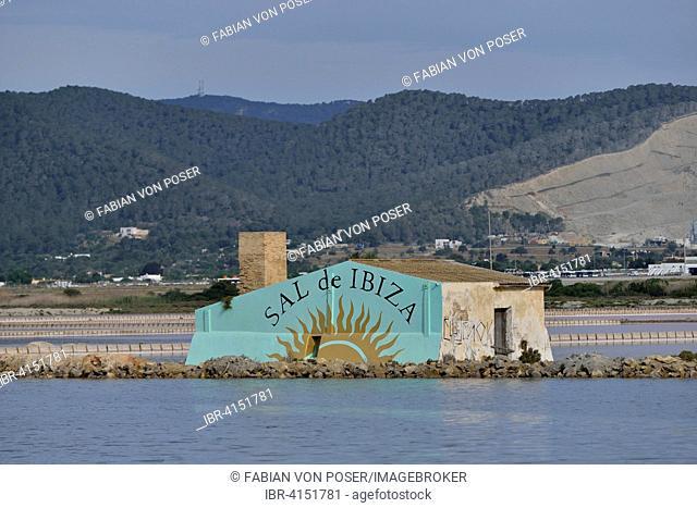 Ses Salines saltworks, near Sant Francesc d'Estany, Ibiza, Balearic Islands, Spain
