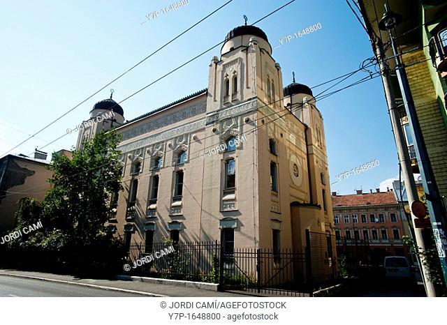 Sarajevo Synagogue , built in Moorish Revival style in 1902, designed by Karel Parik  Bosnia- Herzegovina  Balkans Europe