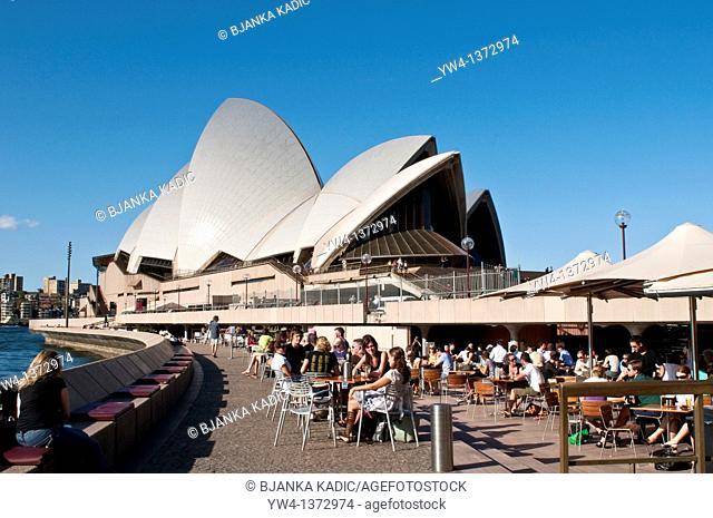 The Opera bar outside Sydney Opera House, NSW, Australia