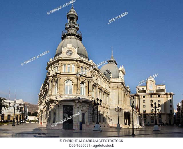 The City Hall in the city of Cartagena, Region of Murcia, South Eastern Spain