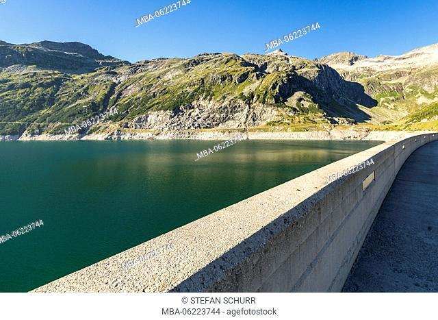 Reservoir Kölnbreinsperre, Maltatal, Hohe Tauern, Carinthia, Austria