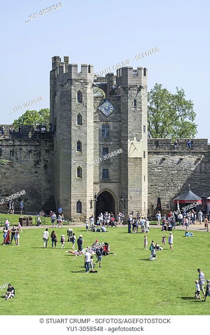 Gatehouse at Warwick Castle, Warwickshire, England