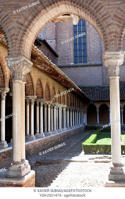 Cloister, Jacobin's convent, Toulouse, Haute-Garonne, Midi-Pyrénées, France