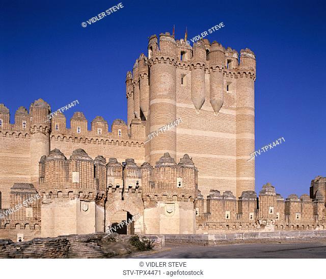 15th, Castilla, Castillo, Castle, Century, Coca, Holiday, Landmark, Leon, Spain, Europe, Tourism, Travel, Vacation