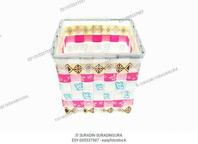 Colorful plastic basket