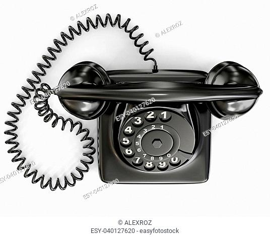 vintage phone isolated on a white background