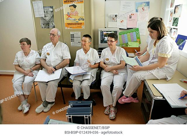Photo essay at Rouen hospital, France