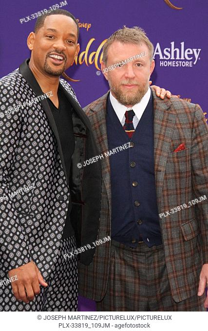 """Will Smith, Guy Ritchie at The World Premiere of Disney's """"""""Aladdin"""""""" held at El Capitan Theatre, Hollywood, CA, May 21, 2019"""