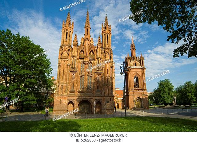 Gothic Ensemble Saint Anna and Bernardine Churches, Vilnius, Lithuania