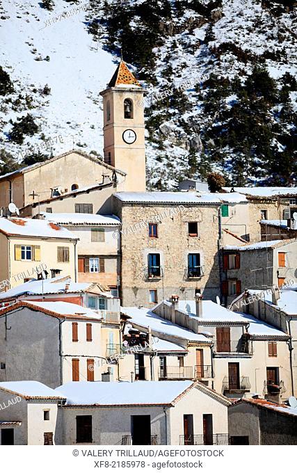 Village of Toudon, Alpes-Maritimes, Parc régional des Préalpes d'Azur, Préalpes d'Azur regional park, Provence-Alpes-Côte d'Azur, France
