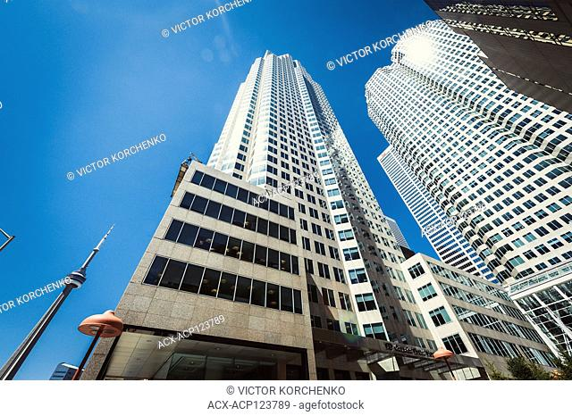 Toronto downtown financial district. Brookfield Place, TD Canada Trust