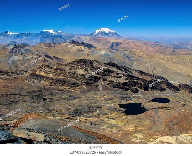 Illimani mountain in Cordillera Real (Bolivia)