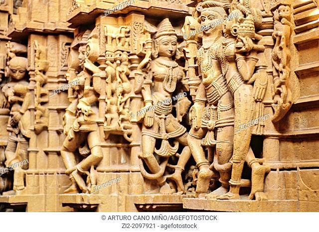 Chandraprabhu Jain Temple, Jaisalmer, Rajasthan state, India