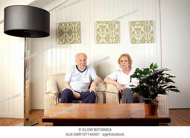 Couple sitting in the living room
