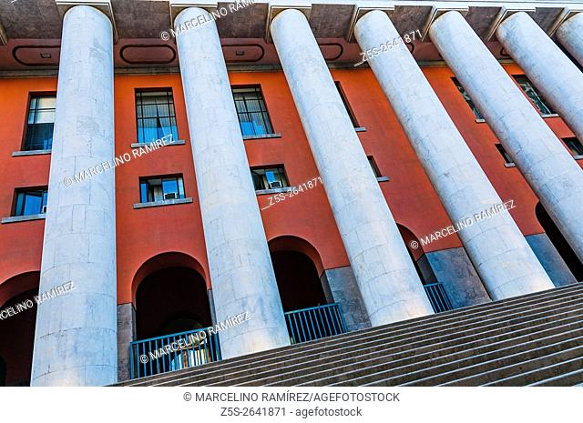 The Post Office building. Fascist Architecture. Palermo, Sicily, Italy