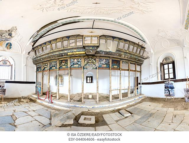 High Resolution interior view of Ayasosti Church at village of Sirince. Selcuk,Izmir,Turkey. 21 August 2017