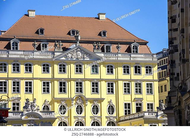 The Cosel Palace near Frauenkirche Church in the city of Dresden, Saxony, Germany