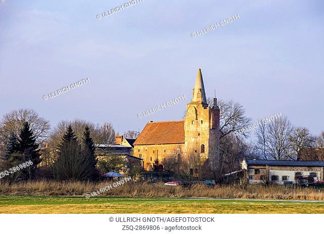 View of medieval Klempenow Castle near Neubrandenburg, Mecklenburg, Germany