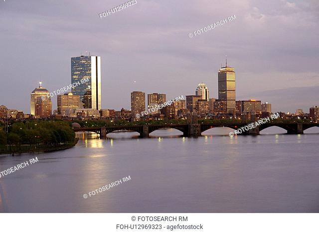Cambridge, Boston, MA, Massachusetts, evening