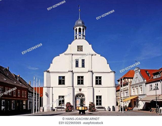 Rathaus am Marktplatz in Wolgast