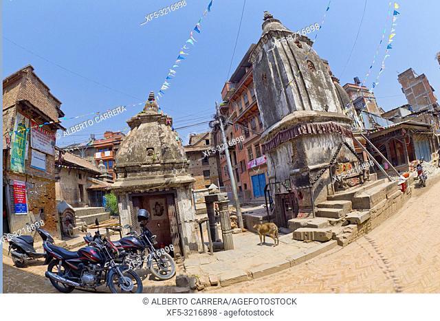 Street Scene, Bhaktapur, Kathmandu, Nepal, Asia