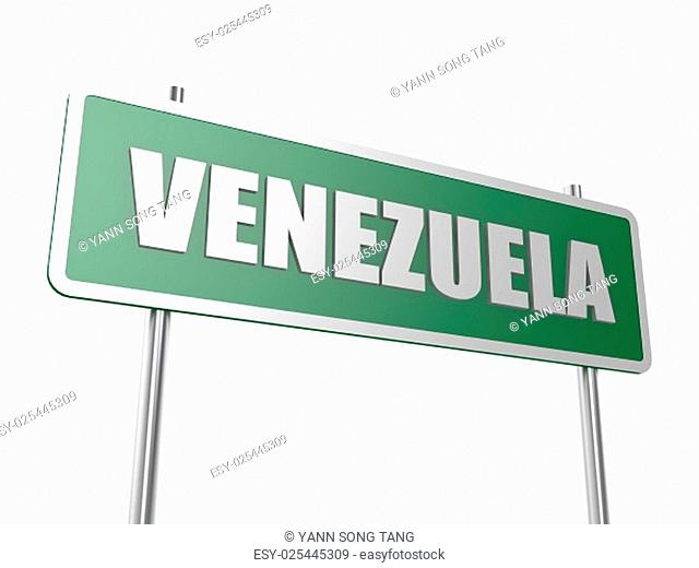 Venezuela concept image with hi-res rendered artwork that could be used for any graphic design