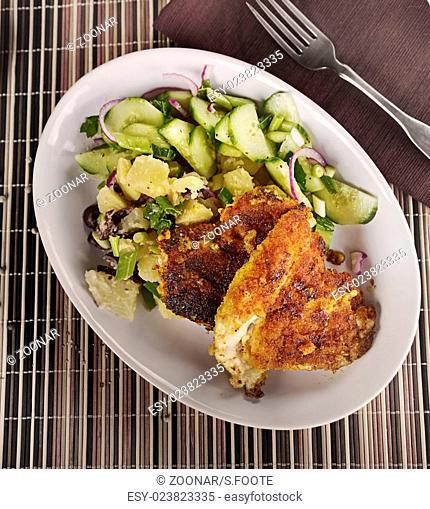 Chicken Schnitzel With Vegetables