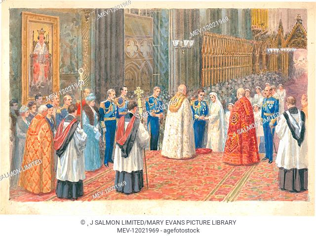 Marriage of the Duke of York and Lady Elizabeth Bowes-Lyon, London Pageantry by Charles Howard