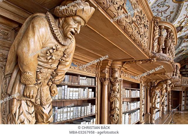 Abbey library Waldsassen, Upper Palatinate, Bavaria, Germany