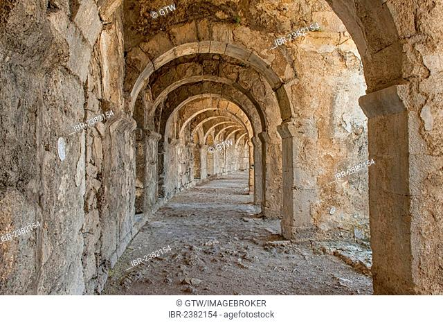 Aspendos Roman Theatre, Upper galleries, Antalya province, Turkey