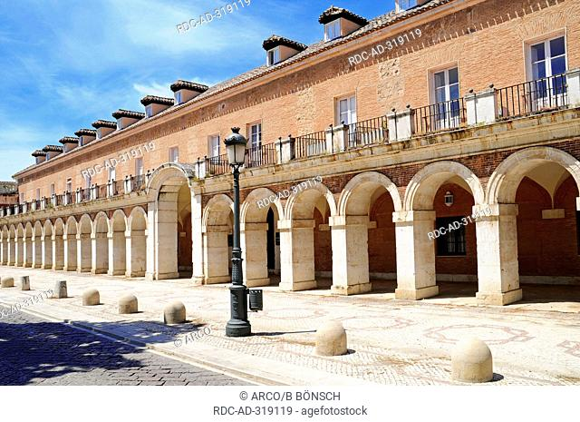Casa de Oficios, Casa de Caballeros, former residence for staff, attached to the Royal Palace, Plaza de San Antonio, Aranjuez, province Madrid, Spain