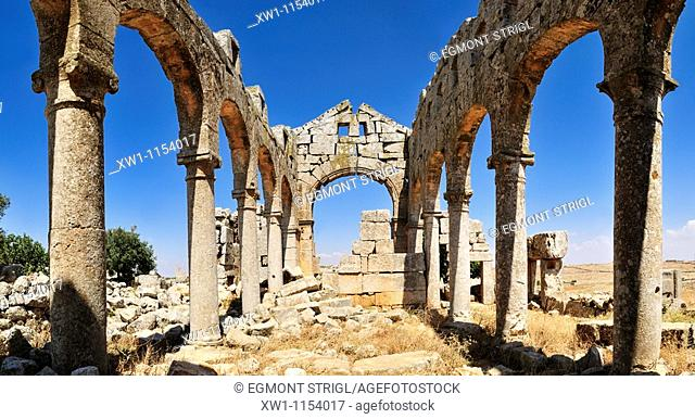 church ruin at the archeological site of Kharab Shams, Dead Cities, Syria, Middle East, West Asia