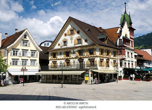 Market square Dornbirn Voralberg Austria