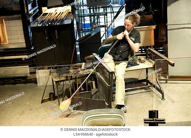 Glassblowing Demonstration at Museum of Glass Corning New York Finger Lakes Region