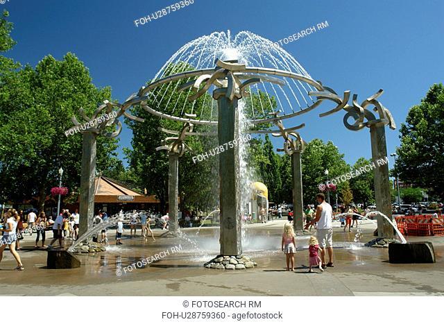 Spokane, WA, Washington, Riverfront Park, fountain