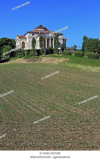 Villa Capra La Rotonda Villa Almerico-Capra by Andrea Palladio, UNESCO World Heritage Site, near Vicenza, Veneto, Italy