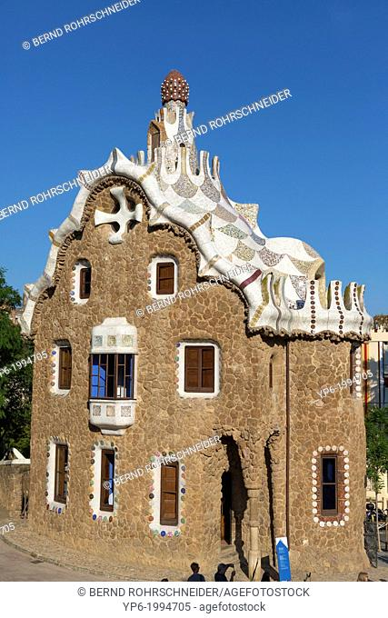 Park Güell, architect Antoni Gaudí, Barcelona, Spain