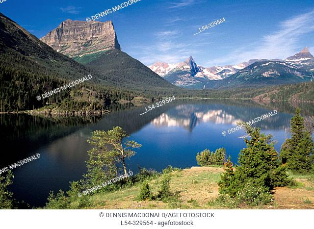 Sun Point View of Saint Mary's Lake, Glacier Natural Park. Montana. USA