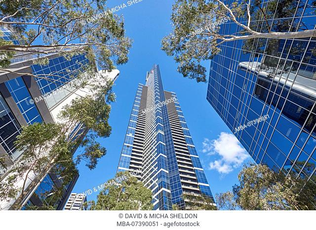 Skyscraper (Eureka Tower), Low Angle View, Cityscape, Melbourne, Victoria