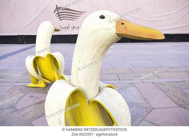 Banana duck street art in Dubai